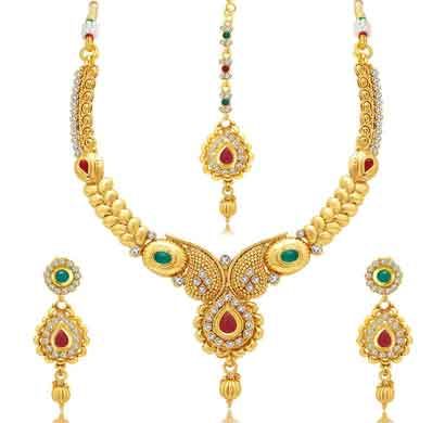 sukkhi gorgeous gold plated ad necklace set for women (3270ngldpj1400)