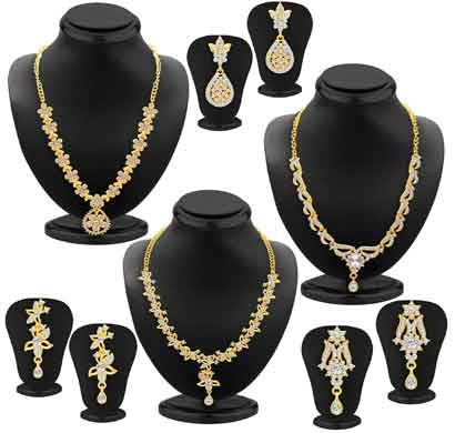 sukkhi alluring gold plated ad set of 3 necklace set combo for women (414cb2100)