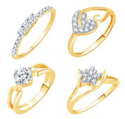 sukkhi artistically gold plated cz set of 4 ladies ring combo for women (447cb1300_11)