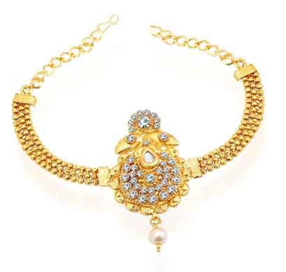 sukkhi artistically gold plated ad bajuband for women (bj71712adh400)