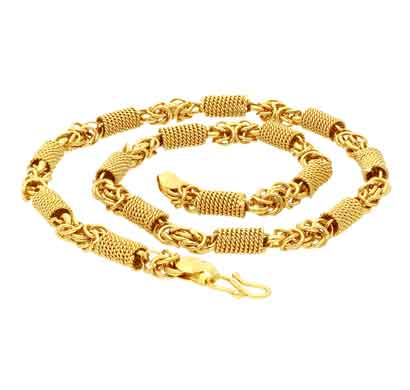 sukkhi sparkling gold plated unisex rope chain (c82277)