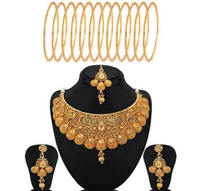 sukkhi classic gold plated jewellery combo for women (cb72361gldpm102017-2.4)