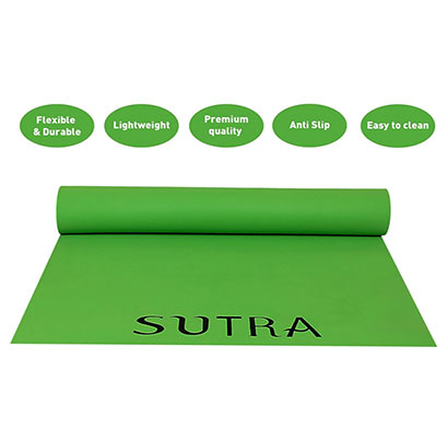 sutra yoga mat with strap, 6mm (green)