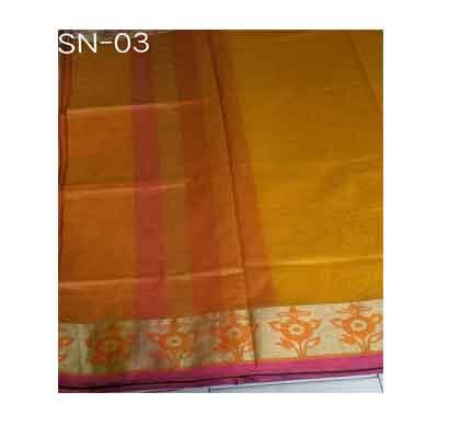 suvarshan tani zari border saree (sn -03) cotton