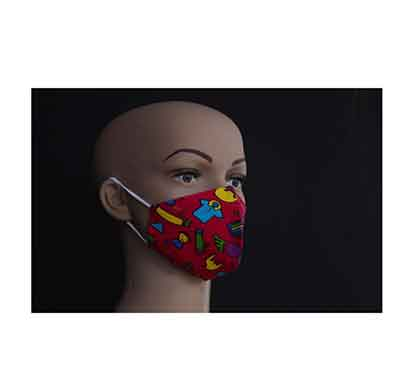 suvarshan gm kids printed face mask (4 to 12 years) multi color
