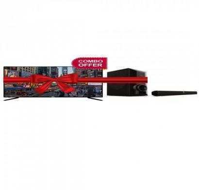 svl 40lc43 102 cm (40) led tv (full hd) with svl t7001 soundbar (2 channel)