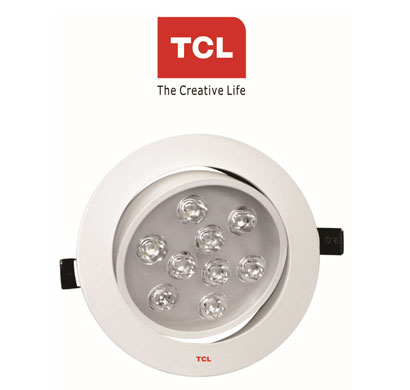 tcl led bicyclo ceiling light 180 rotative 9w 6000k cool white