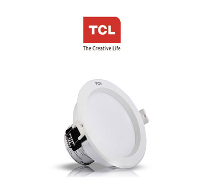 tcl led deep mini down light 7w 6000k(cool white) recessed white heat resistant aluminium