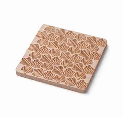 teabox floral wooden coasters set of 2 (cowf1)