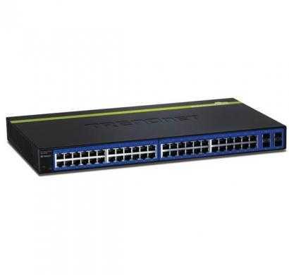 trendnet 48-port gigabit web smart switch w/ 4 shared mini-gbic slots