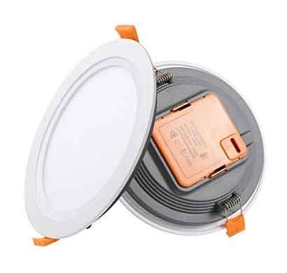 tubon lumino led panel light 6 watts aluminium round shape (white)