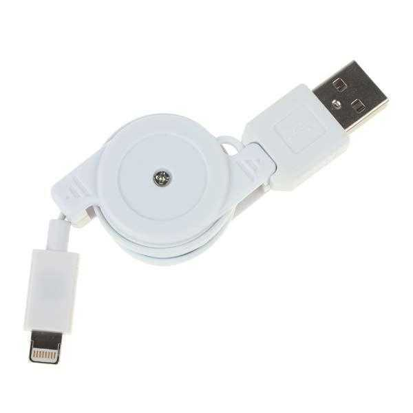 USB retractable cable for iPhone. iPod. iPad