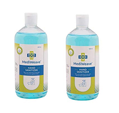 value cart water less hand sanitizer 70% isopropyl alcohol based instant germ protection rinse-free liquid hand rub, 500ml (2 pieces)