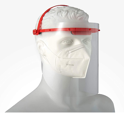 value cart face shield omini visior with 2 sided peel off layer (combo-1 headgear +3visor & 1 kn 95 mask)