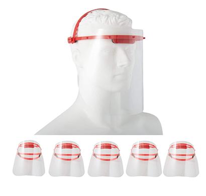 value cart adult safety face shield omini, visor with 2 sided peel off layer (pack of 5)