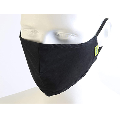 value cart new black cloth face mask for women & men, washable &reusable mask, (pack of 5)