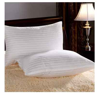 venus homes microfiber standard pillows (17x27 inches, white) set of 2 pieces