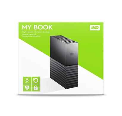 wd 8tb my book desktop external hard drive usb 3.0 (wdbbgb0080hbk-nesn)