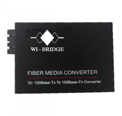 wi - bridge fiber media converter-20km- 100basetx to 100basefx