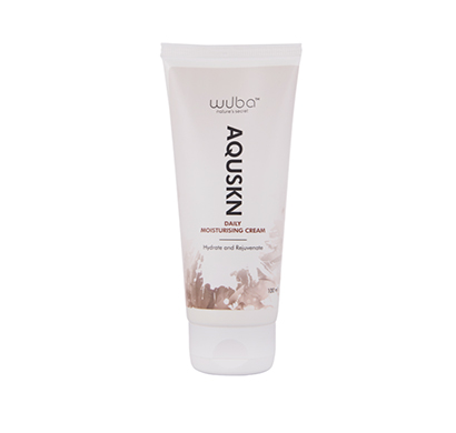 wuba nature's secret aquskn cream, moisturizing day cream, fights stretchmarks & scars