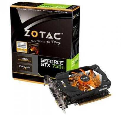 zotac geforce gtx 750 ti 1gb graphics card (black/orange)