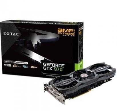 zotac geforce gtx 970 amp! triple fan 4gb ddr5 zt-90110-10p 256bit amp edition pci-e 3x displayport