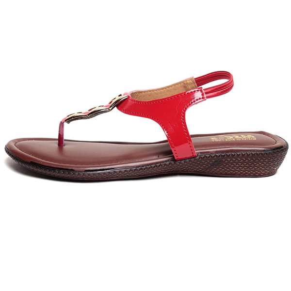 ADEERA (ADEERA-5-207-Red) PVC SOLE FAUX LEATHER Upper Material (Red)