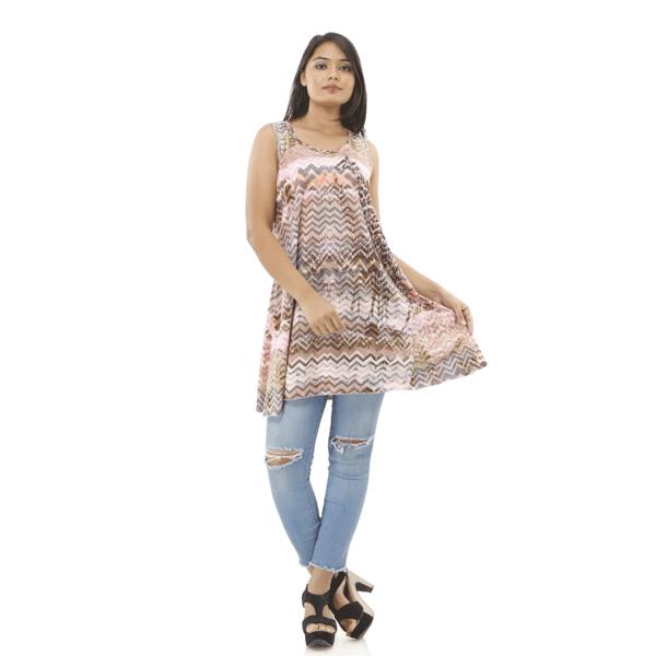 Advik Half Sleeve Women's Multicolor Printed Top