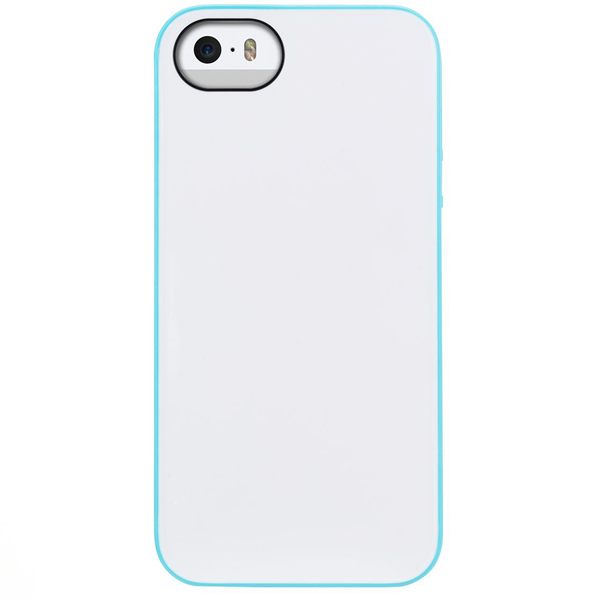 Agent18- P5SHKA/DW, SHOCK HEARTS For IPHONE 5/5S, (BLUE/WHITE)