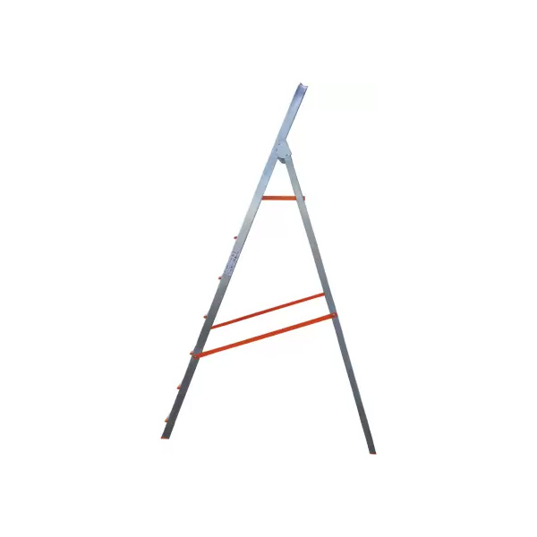 AGUERRI 7 Step Foldable Aluminium Ladder with Platform (Silver)