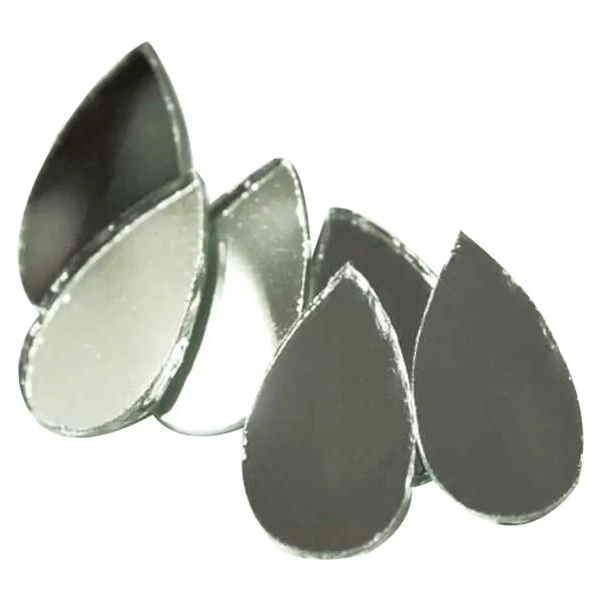Almond Shaped Craft Mirrors Used For Embellishing Skirts, Dresses, Tops, Bags, Home Linen or for any other craft project. (8 millimeter)