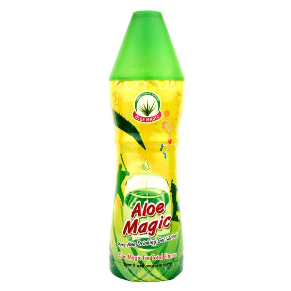 Herbal Trends Aloe Magic- Aloe vera Gel( Juice) - Pure,Fresh, Undiluted, Fibrous, No added Sugar