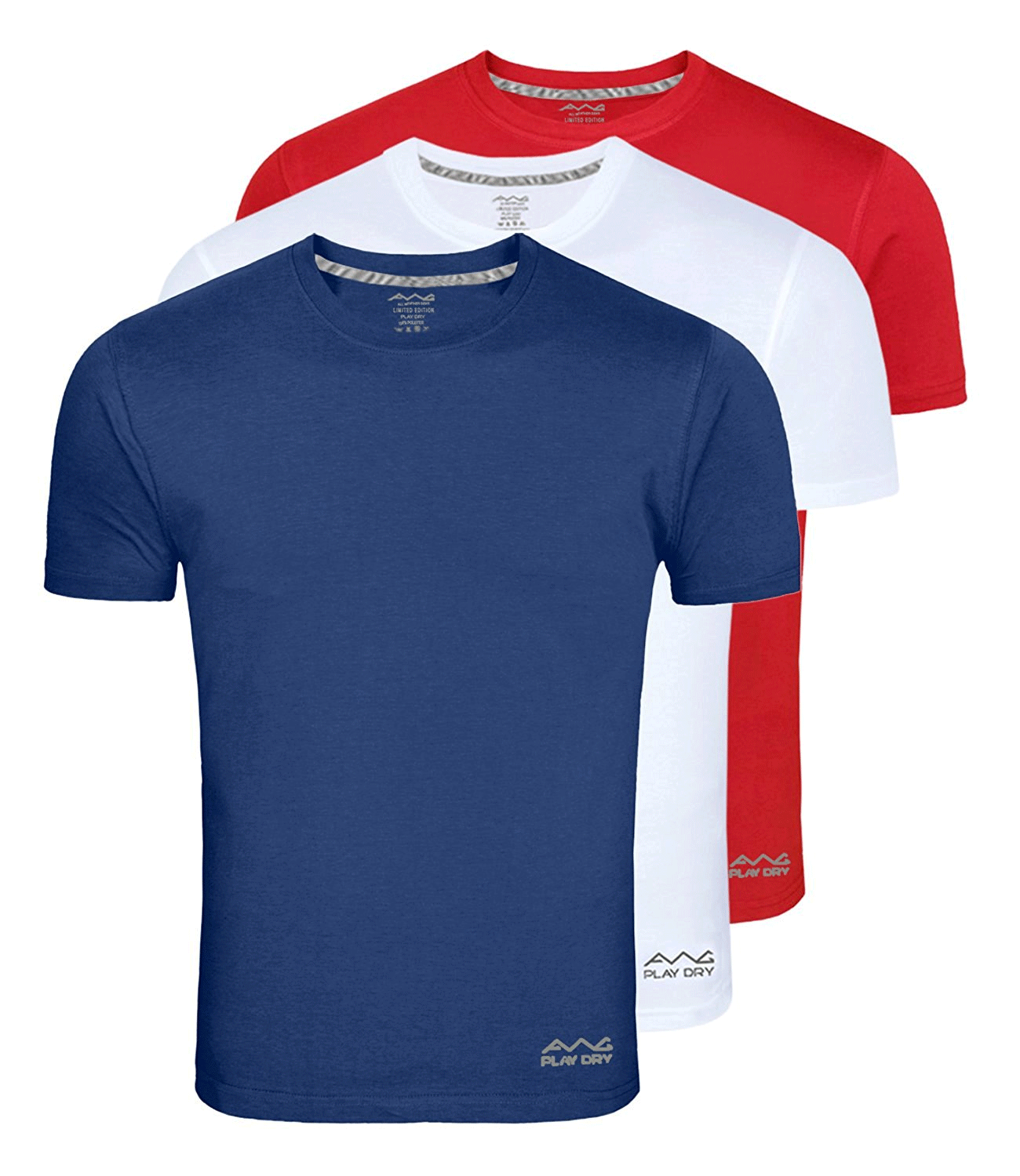 100ANB AWG (150 GSM) Drifit Performance Sports Round Neck T-shirt Red