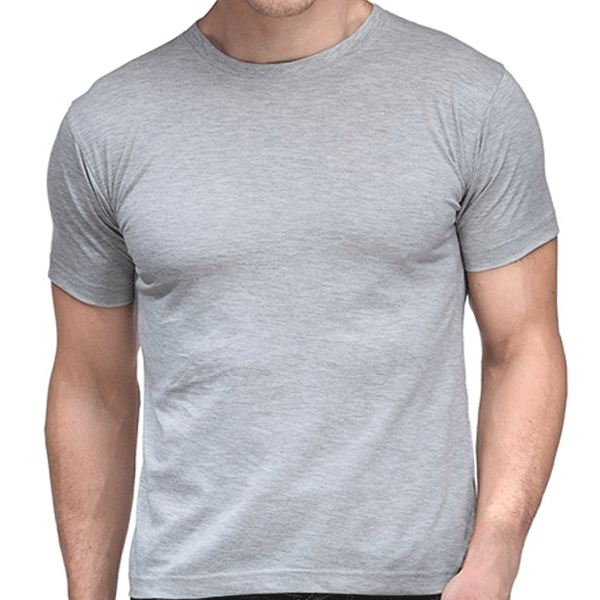 SCT 100ANB Round neck (160 - 180 GSM) T-Shirt Cotton Grey