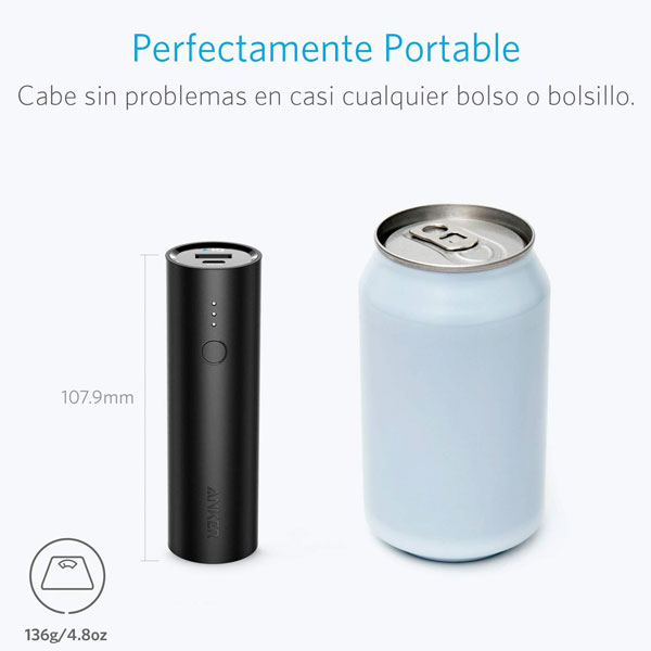 Anker Power Bank (A1109G11) 5000mAH Lithium Ion