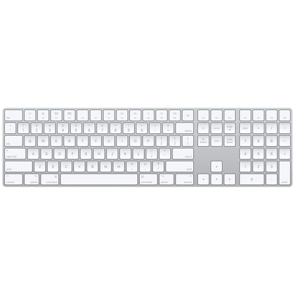 Apple - 190198383334 Magic Keyboard with Numeric Pad - US English, White
