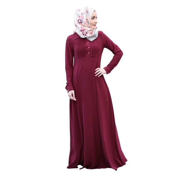 Arihant (104) Islamic Abaya, Size Large & Extra Large, BSY Fabric,Burkha Dress ( Maroon)