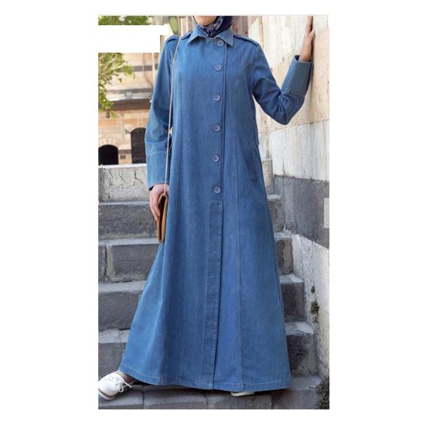 Arihant (107) Islamic Abaya, Size Large & Extra Large, Denim Fabric,Burkha Dress (Blue)