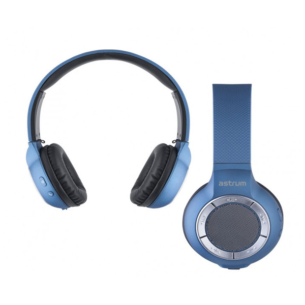 Astrum HT300 Wireless Over-ear Leather Cups Headset (Black & Blue)