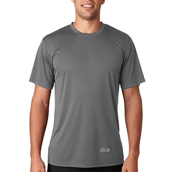 AWG 100ANB (150 GSM) Drifit Performance Sports Round Neck T-shirt Grey