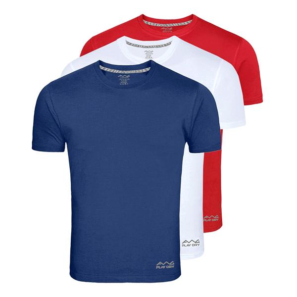 AWG 100ANB (150 GSM) Drifit Performance Sports Round Neck T-shirt Navy Blue