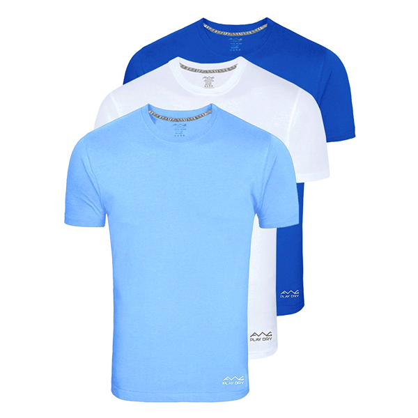 AWG 100ANB (150 GSM) Drifit Performance Sports Round Neck T-shirt Sky Blue