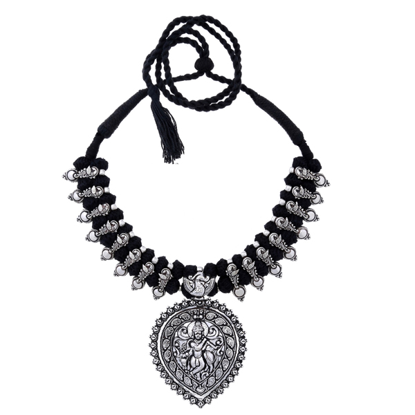 BALLERINA'S (BsAOTJNES08108) Oxidized Silver Plated Necklace for Women