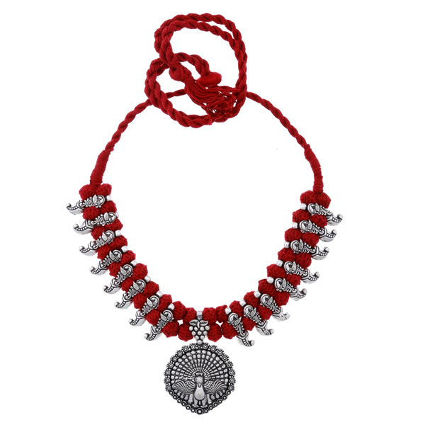 BALLERINA'S (BsAOTJNES08205) Oxidized Silver Plated Necklace for Women