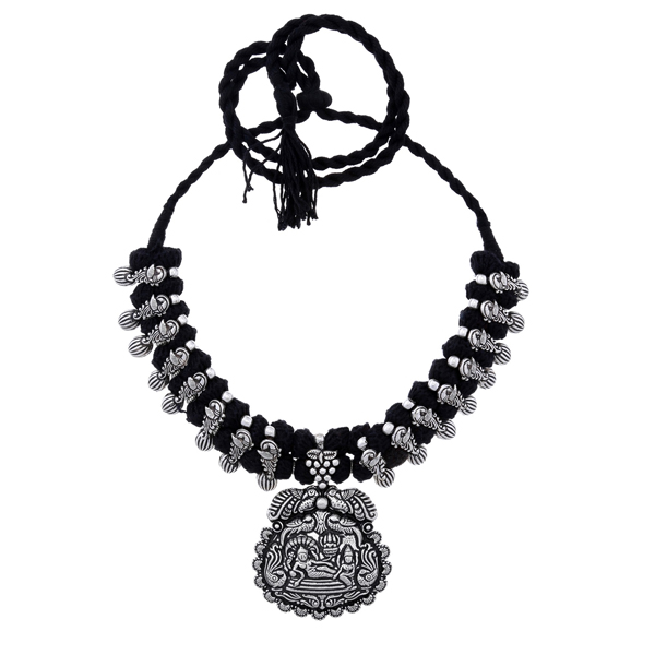 BALLERINA'S (BsAOTJNES08908) Oxidized Silver Plated Necklace for Women