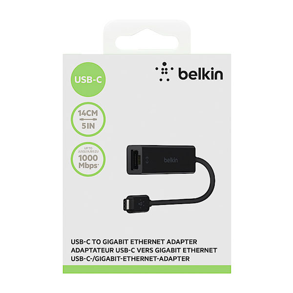 Belkin (F2CU040BT) USB-C Gigabit Ethernet Adapter ( Black )