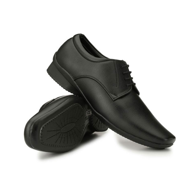 Blanc PURU-710600BM0010/ Derby/ Artificial Leather/ Size 10/ Black / Formal Shoes