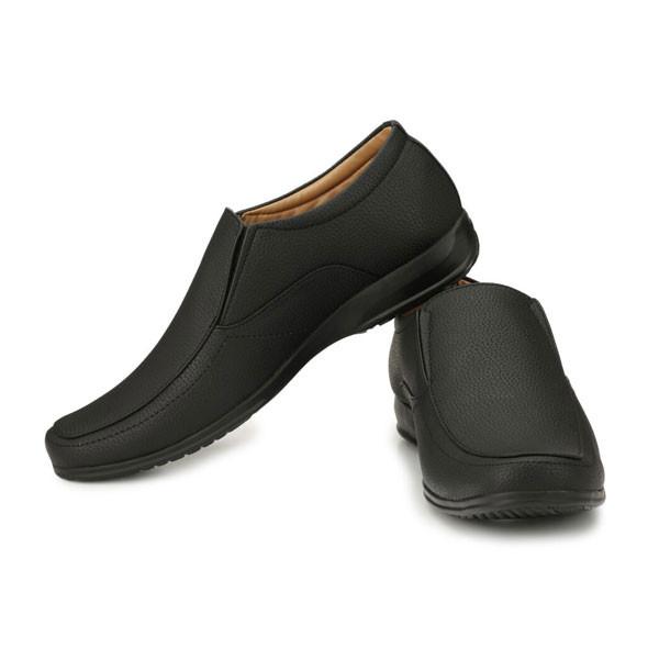 Blanc PURU-720500BM006 Slip On / Artificial Leather/ Size 6/ Black/ Formal Shoes