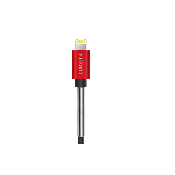 CORSECA DMCH26L IPhone Data Cable (Black And Red)