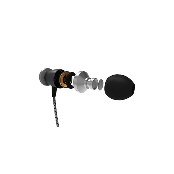CORSECA NUGGET Bass Driven Metal Stereo Wired Earphone With Mic
